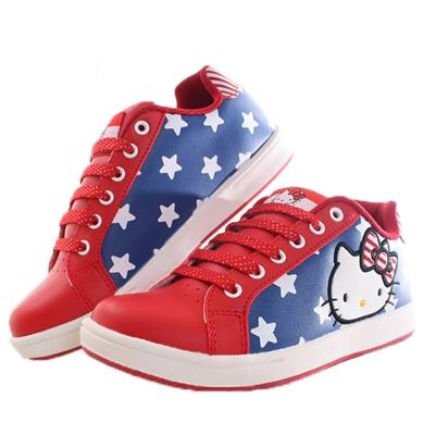 Hello kitty綁帶女款潮鞋 紅藍 sk0203 魔法Baby