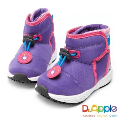 Dr. Apple 機能童鞋 寶寶防水布俏皮短靴-紫