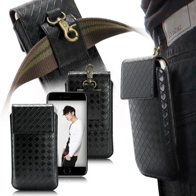 XM-iPhone-7-Plus-6s-Plus-5-5-5-7吋-編織穩重腰掛皮套