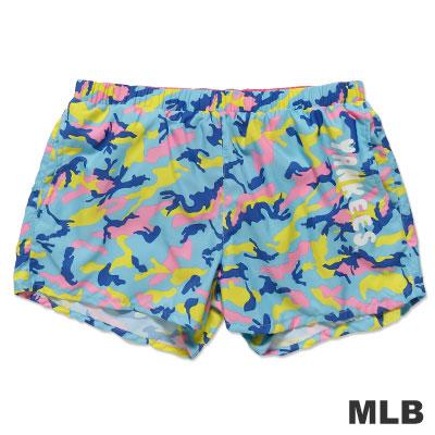 MLB-紐約洋基隊迷彩印花透氣短褲-粉紅-女