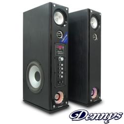 Dennys藍牙超重低音多媒體落地型喇叭-黑木色(CS-699)