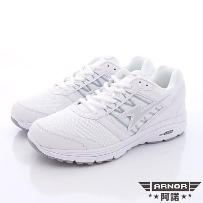 ARNOR-Q彈避震跑鞋-SI3709白(男段)