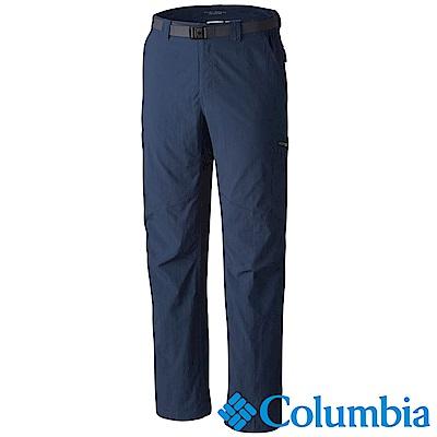 Columbia哥倫比亞 男款-防曬抗UV50快排長褲藍色(UAE80070BL)