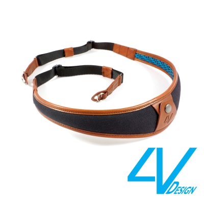4V ALA系列相機背帶 LR-CV0923-黑/棕色(L)