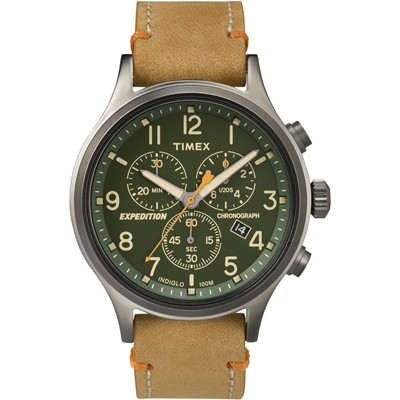 TIMEX 天美時 Scout Chrono系列三眼計時手錶-綠/42mm