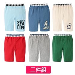 baby童衣 簡約印花運動風短褲 2件組 61165