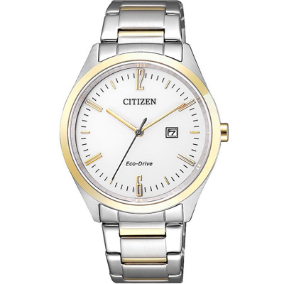 CITIZEN 星辰 典雅光動能女錶(EW2454-83A)-白x金色/34mm
