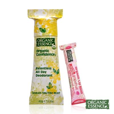 Organic Essence 美國環保體香膏 有機檸檬茶樹 贈護唇膏