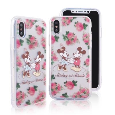 Disney迪士尼iPhone X花花世界防摔氣墊空壓保護套 米奇米妮