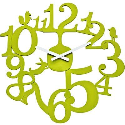 KOZIOL 動物森林壁面時鐘(綠)