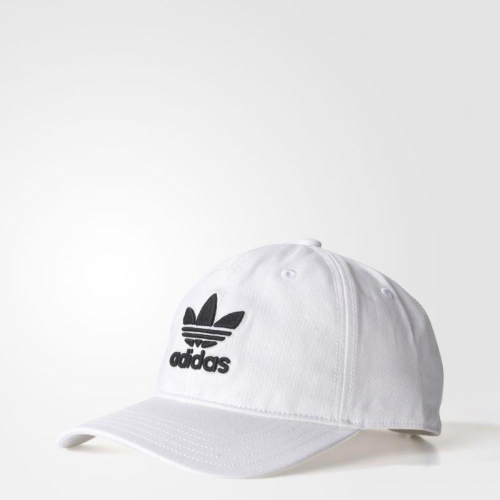 adidas Trefoil Cap帽子男款女款白