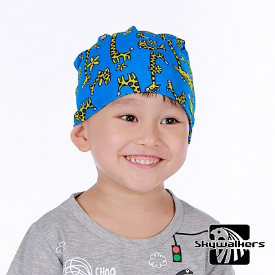Skywalkers《長頸鹿-藍》兒童魔術頭巾