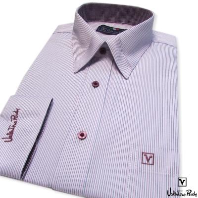 Valentino Rudy范倫鐵諾.路迪-長袖襯衫-粉色細紋