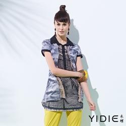 YIDIE衣蝶 襯衫領仿洋裝單寧外套上衣