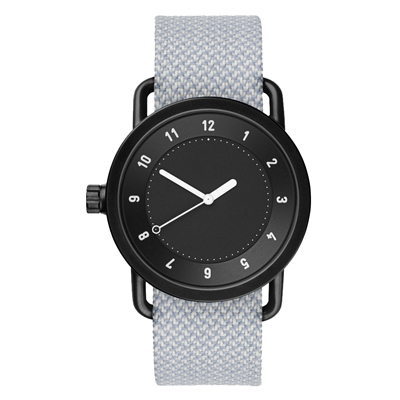 TID Watches No.1 Black 黑底x灰白色腕錶/40mm