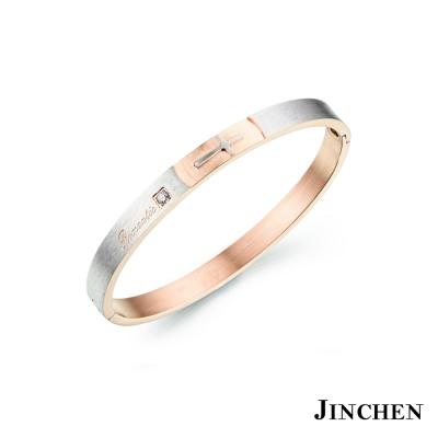 JINCHEN-白鋼浪漫愛情-情侶手環