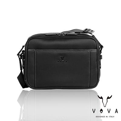 VOVA - 羅馬系列橫式斜背包-小 - 簡約黑
