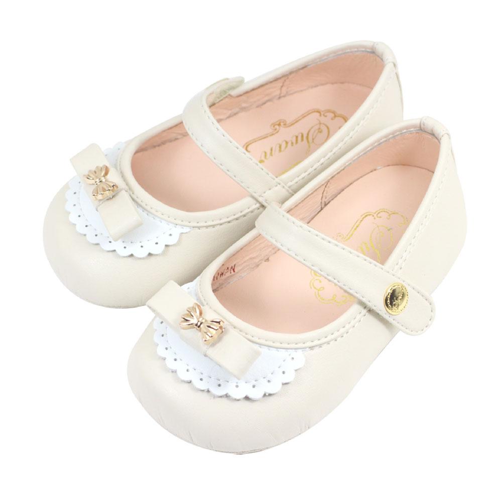 Swan天鵝童鞋-愛莉絲可愛蝴蝶結學步鞋1523-米