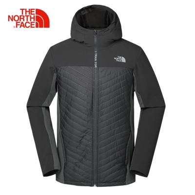 The North Face北面男款黑色保暖皮膚衣外套