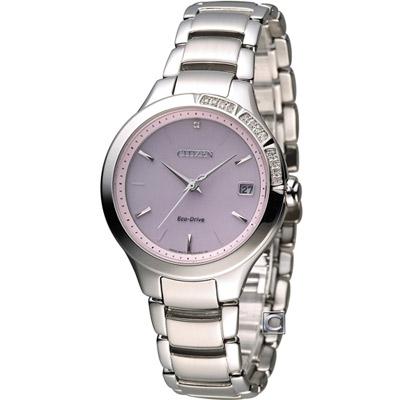 CITIZEN 星辰 L系列 甜美柔和光動能時尚錶(EO1150-59W)-粉/34mm