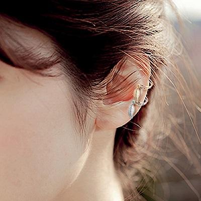 Hera 赫拉 歐美時尚立體樹葉無耳洞耳夾-2色