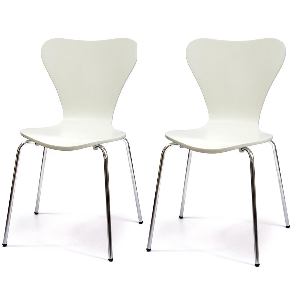 aaronation 愛倫國度 時尚設計造型曲木椅43x38x80cm(2入)