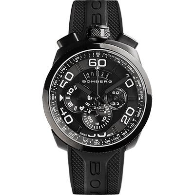 BOMBERG 炸彈錶 BOLT-68 黑鋼計時碼錶-45mm