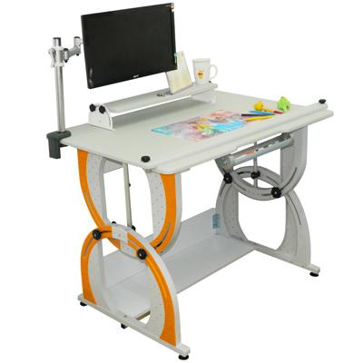 時尚屋 愛德華含螢幕支架兒童成長書桌
