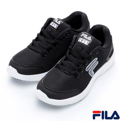 FILA女慢跑鞋-黑-防臭鞋墊-5-J907Q-001