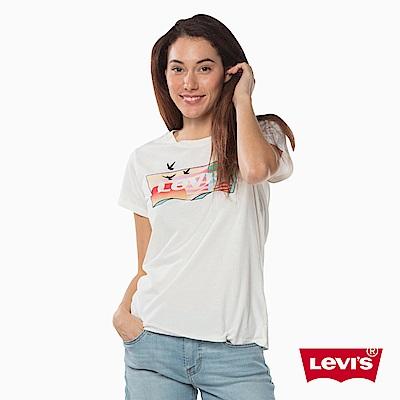 T恤 女裝 短袖純棉TEE 圓領 夕陽Logo印花 - Levis