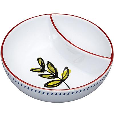 KitchenCraft 陶製雙格點心碗
