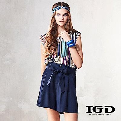 IGD英格麗 幾何彩條造型上衣