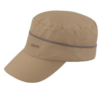 【ATUNAS 歐都納】中性防曬抗UV透氣速乾兩用休閒軍帽 A-A1606 卡其