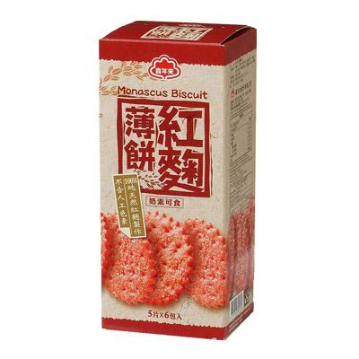 喜年來 紅麴薄餅(120gx3盒/袋)