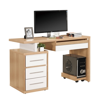ROSA羅莎 布爾文4尺電腦桌組(4尺電腦主桌+主機架)