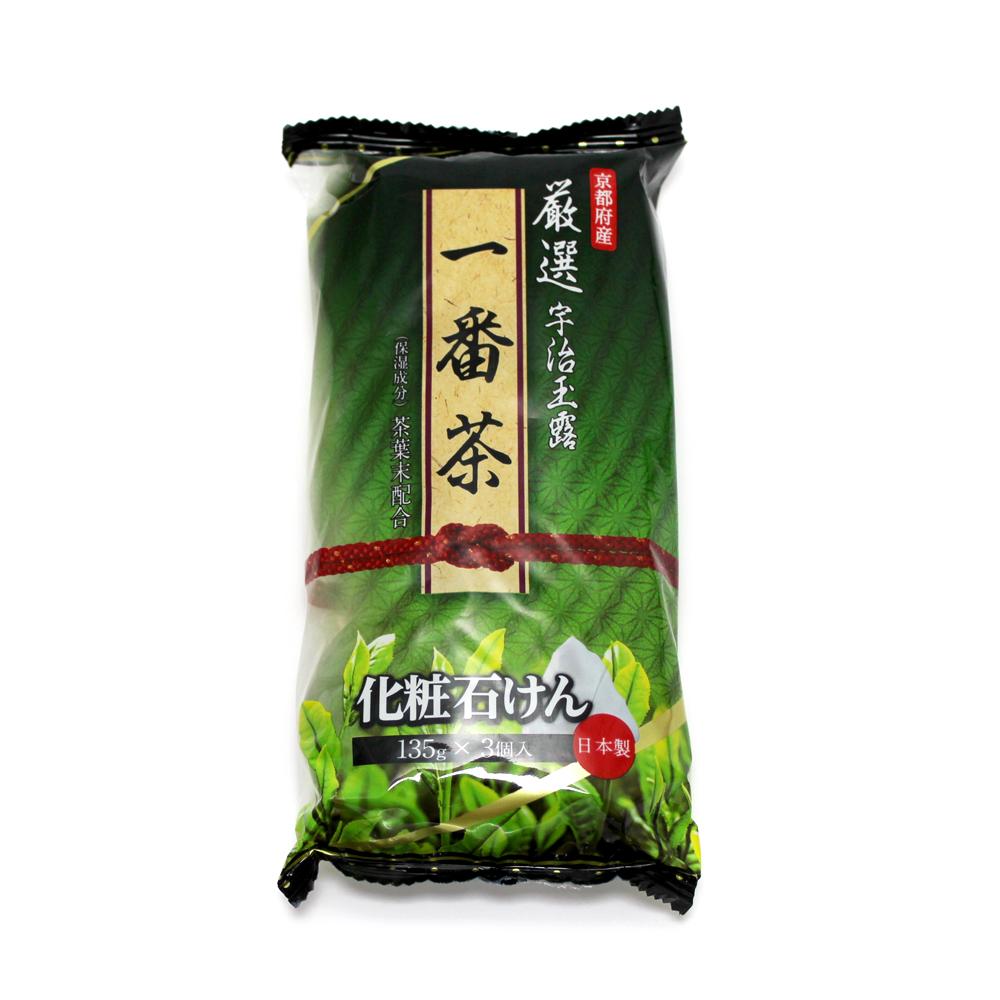 日本嚴選宇治玉露一番茶香皂-135g(3入組)
