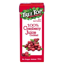 TreeTop樹頂 100%蔓越莓綜合果汁利樂包(200mlx6入)