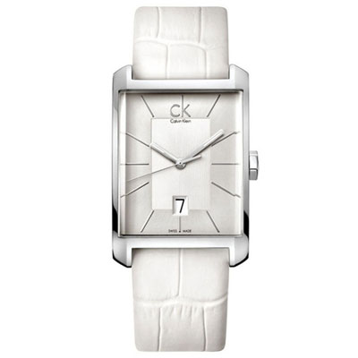 Calvin Klein Window 經典設計腕錶-白/31x46mm K2M21120