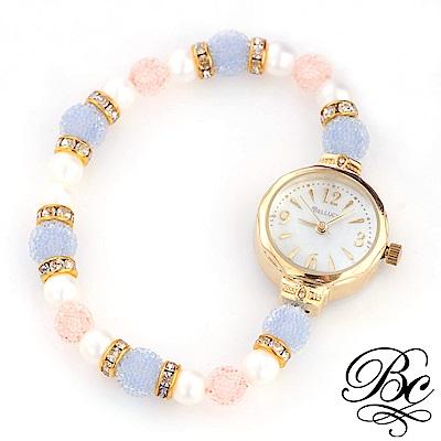 BELLUCY 珍珠甜心手環錶(藍)