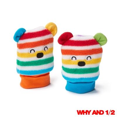 WHY AND 1/2 mini 經典彩條搖粒絨寶寶手套