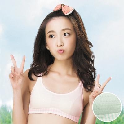 嬪婷 學生內衣 寶貝棉蘆薈 第二階段 AA罩杯適體內衣(BABY綠)