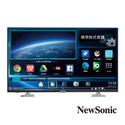 NewSonic 43型 FHD智慧聯網LED液晶顯示器+視訊盒 43NS-EF1