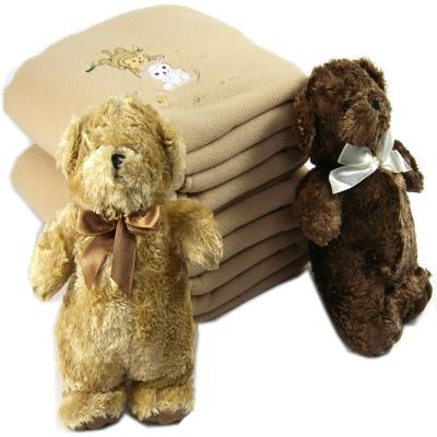 可愛兔與猴保暖毯+經典可愛熊組合-快