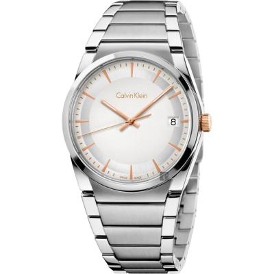 Calvin Klein CK Step 城市美學腕錶-銀x38mm K6K31B46