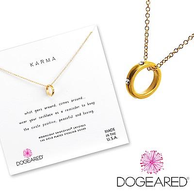 Dogeared Mini Karma 鑲鑽定情戒指造型金色項鍊 迷你款 附原廠盒