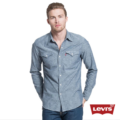 Levis-男款長袖牛仔BARSTOW西部襯衫