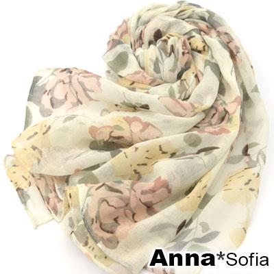 AnnaSofia-防曬遮陽-清新玫瑰-柔軟披肩圍
