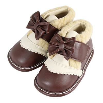 Swan天鵝童鞋-可愛毛毛小短靴1503-咖