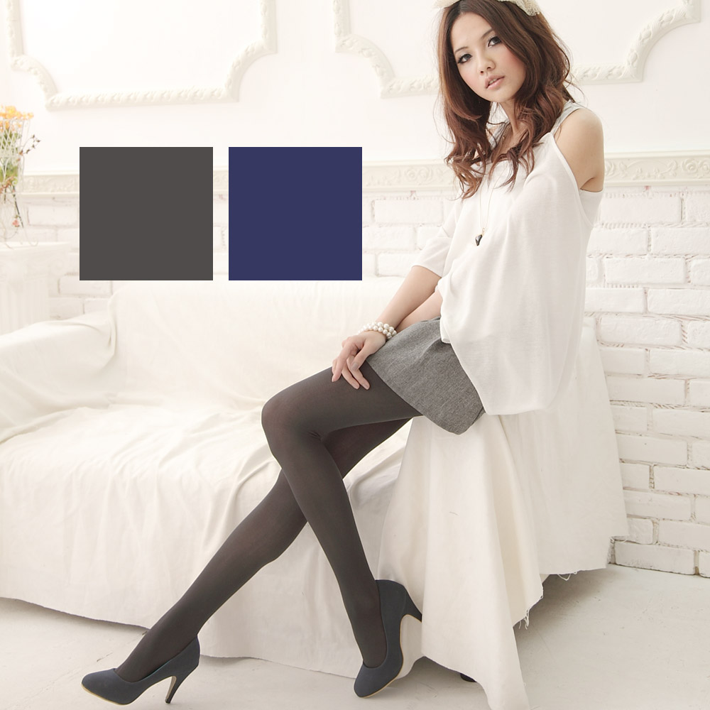 I-shi vivi流行彩色褲襪灰藍