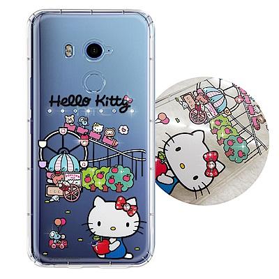 正版凱蒂貓 HTC U11+/ U11 Plus 夢幻童話 彩鑽氣墊手機殼(遊樂...